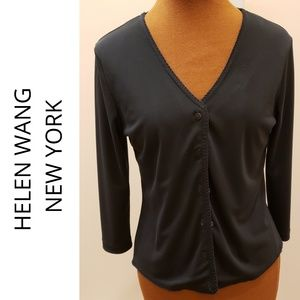 HELEN WANG 3/4 Length Sleeve Cardigan